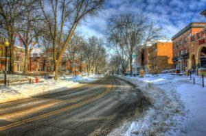 snowy street - kindness